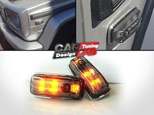 LED-Side-Markers-Indicators-Smoke-Turn-Signal-Lights-Fits-Mercedes-Benz-G-W463