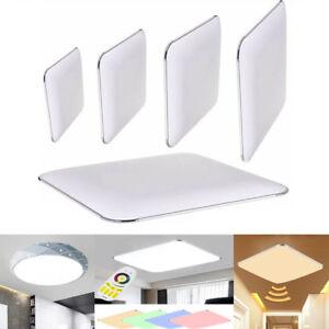 Details Zu Led Deckenleuchte Silber Kuche Deckenlampe Flur Dimmbar Wohnzimmer Ip44 12w 96w