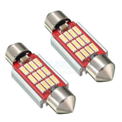 AUDI A6 C5 C6 4F 4B 12 SMD LED CANBUS XENON WHITE NUMBER PLATE LIGHT BULBS