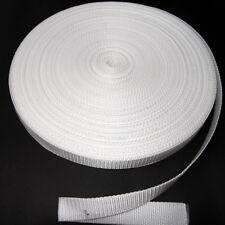 5 m Meterware Gurtband Taschengurt Breite 25 mm weiß 1,4mm dick