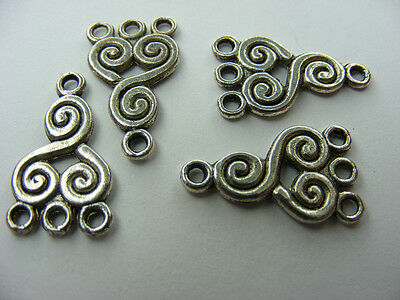 Crafts Considerate 4 Intercalaires Rajout Bo Argent Tibet Argenté 21x12.5mm Other Beads & Jewelry Making