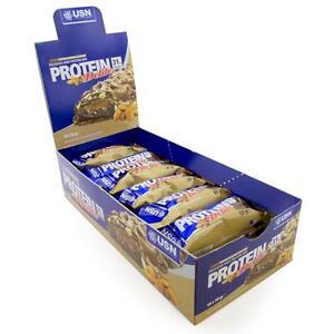 Nuevo-USN-Protein-Delite-Toffee-Almendra-Barras-De-Alta-Proteina-18-x-50g