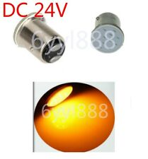 2X 24V LED 1157 BAY15D P21/5W 12Chips Car Brake Parking Light Bulb Yellow/Orange