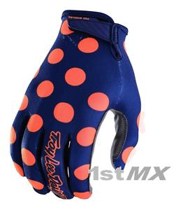 Troy Lee Designs GP AIR Polka Dot Navy Orange Motocross Race Jersey Adult Small