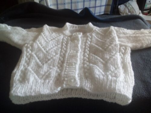 babies cardigans white 0-3 months