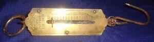 RP2611-Vtg-Seca-Sportsman-Brass-Spring-Balance-Hanging-Fish-Scale-Germany