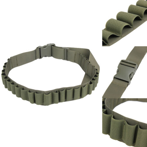 Tactical Military 29 Round Shell Bullet Carrier Waist Belt Shotgun Sling