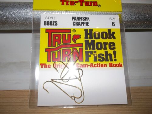 TRU TURN GOLD PANFISH HOOKS SIZE 6   #888ZS  7 PACK