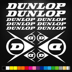 DUNLOP-14-Stickers-Autocollants-Adhesifs-Moto-Auto-Voiture-Sponsor-Marques