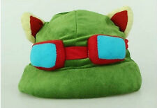 Cool Cute Cosplay Green League of Legends LOL New Hot Plush Suit Style Teemo Hat