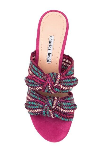 Charles David Women's Size 9.5 US Cgoldna Pattern Sandals In Pink NEW   259