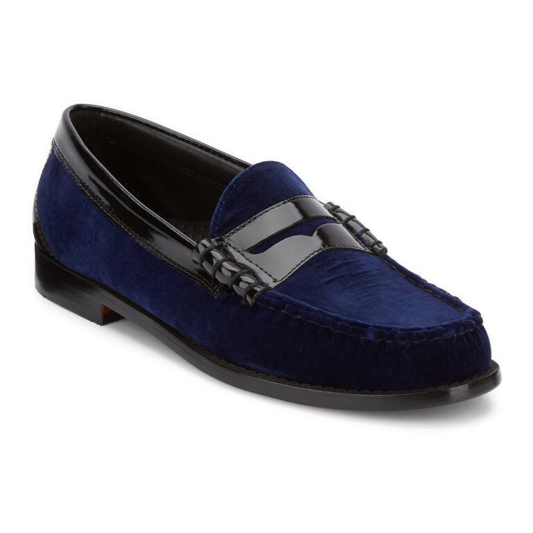 G.H. Bass & Co. Men's Larson Velvet Weejuns bluee Loafer Dress shoes 70-60426