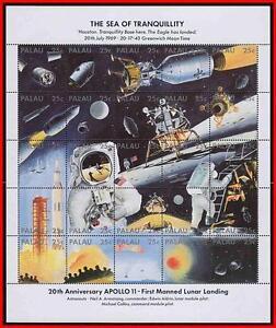 Palau 1989 Espacio / Apolo 11 En Luna M/S MNH (Doblado) Cara Valor $ Ee.uu. =