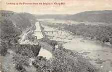 Harpers Ferry West Virginia Looking up the Potomac Antique Postcard J49457