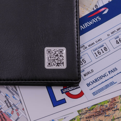 Secret Message QR Code Wallet Personalised Gift Mens