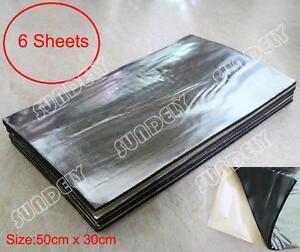 6Sheet Heat Shield Mat Car Exhaust Muffler Insulation for hood Fiberglass Cotton