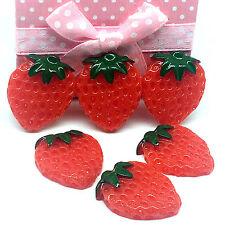 10pcs Red Strawberry embellishment Resin Flatback ScrapbookIng for phone/craft