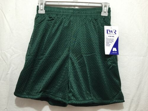 BNWT Girls or Boys Sz 16 LW Reid Bottle Green Stretch Mesh School Sports Shorts
