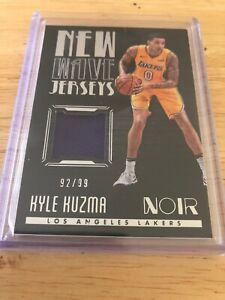 0f7b02ac949 2017-18 Panini Noir KYLE KUZMA New Wave Jersey LA Lakers   99