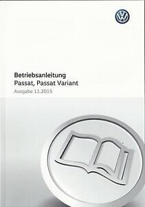 vw passat passat variant b8 2015 2016 betriebsanleitung rh ebay es Volkswagen Passat Variant Interior Volkswagen Passat Variant Interior