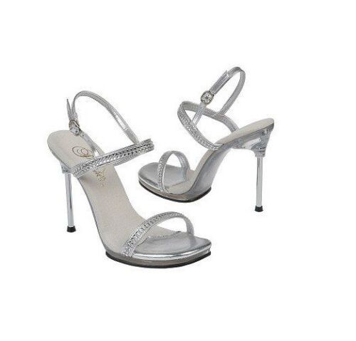 Posing Uk Sandal Party Chic 2 3 Diamante Size Pleaser Rhinestone 5 2 Silver 17 xw7gAqPx