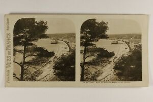 Francia Nice Baie Dei Angeli Panorama c1925 Foto Stereo Vintage Analogica