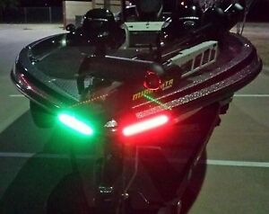 Boat-Bow-LED-Lighting-RED-amp-GREEN-8-034-Strips-Fully-Submersible