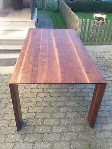 designer esstisch nussbaum massiv holz neu tisch beistelltisch auch auf ma ebay. Black Bedroom Furniture Sets. Home Design Ideas