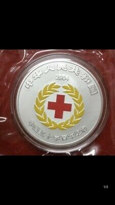 Coins & Paper Money Qualified 2004 China Red Cross Silver Coin No Box, Discounts Price