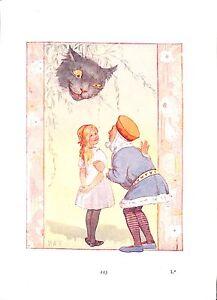 Alice-in-Wonderland-print-Margaret-Tarrant-1930-Cat-King-Alice-Children-Art