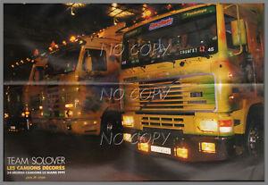 poster camion d cor scania volvo team solover 24h du mans 1991 56x42cm ebay. Black Bedroom Furniture Sets. Home Design Ideas