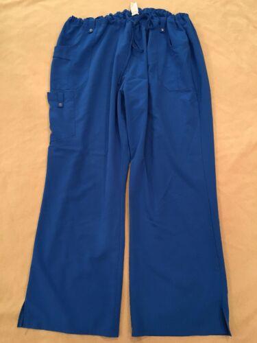 Dickies 3X Scrub Pants Royal Blue Cargo Style Nurs
