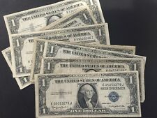 1935 & 1957 Circulated One Dollar Silver Certificate Bills Note Lot of 100