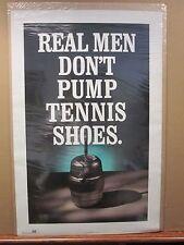 Vintage real men don't pump tennis shoes funny poster 12046