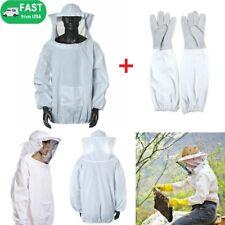 Protective Bee Keeping Jacket Veil Smock Suitsbeekeeping Long Sleeve Gloves Usa