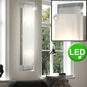 LED Design Wand Spot Lampe Spiegel Leuchte silber Beleuchtung Bad Wohn Zimmer