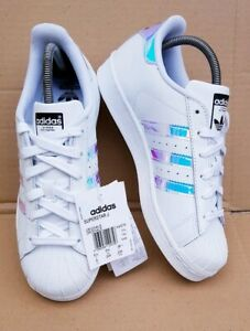 S Superstar White Leather Trainers 5.5 Uk