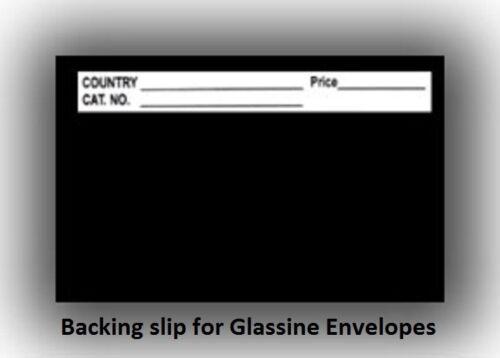 Glassine Backing Slips #4.5-Envelopes, B Style, 1 Lot of 100ea 00172 10-8-14