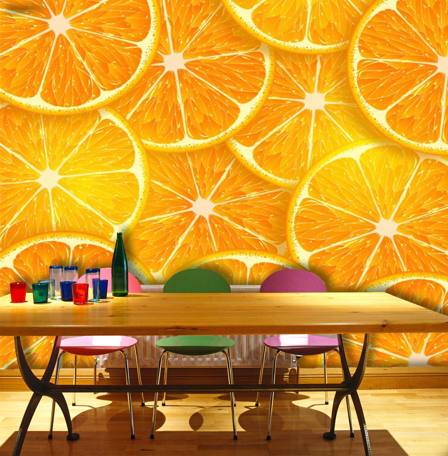 3D Gelb lemon slices Wall Paper wall Print Decal Wall Deco Indoor wall Mural