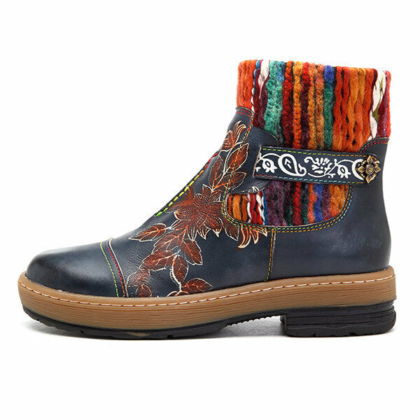 Embroidered boots Boho trivial etnic Handmade Leather bohemian Boots code5