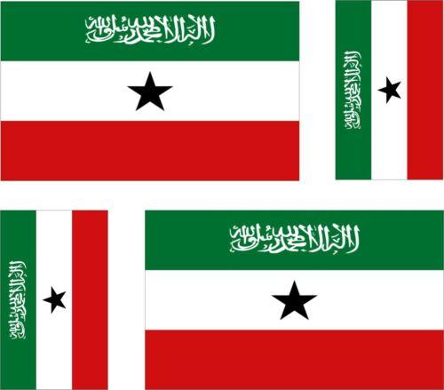 Set of 4x sticker vinyl bumper decal outdoor car moto somalia flag somaliland