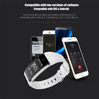 Touch Screen Waterproof Fitness Tracker Wfcl Oled Smart Watch Band With Sleep