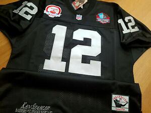 black BRAND NEW Oakland Raiders #12 Ken Stabler SB patch sewn ...