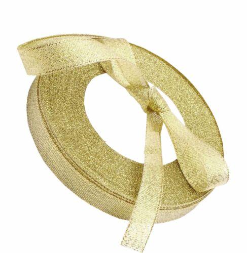 50 Yard Roll 6mm GOLD GLITTER Sparkle Organza Ribbon
