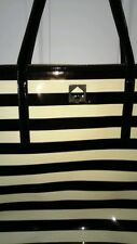 Kate Spade Purse** Black Stripe Patent Large Tote