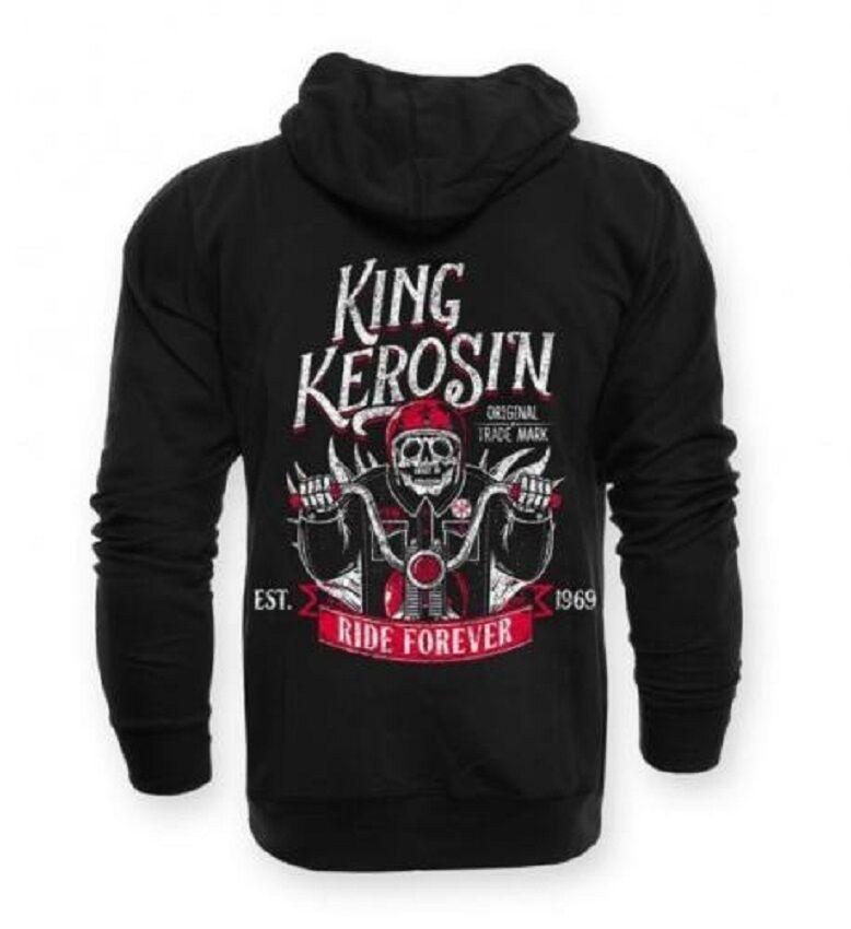 King Kerosin Zip-Hoodies Zipper Ride Forever Herren Kapuzenpullover Hoodie
