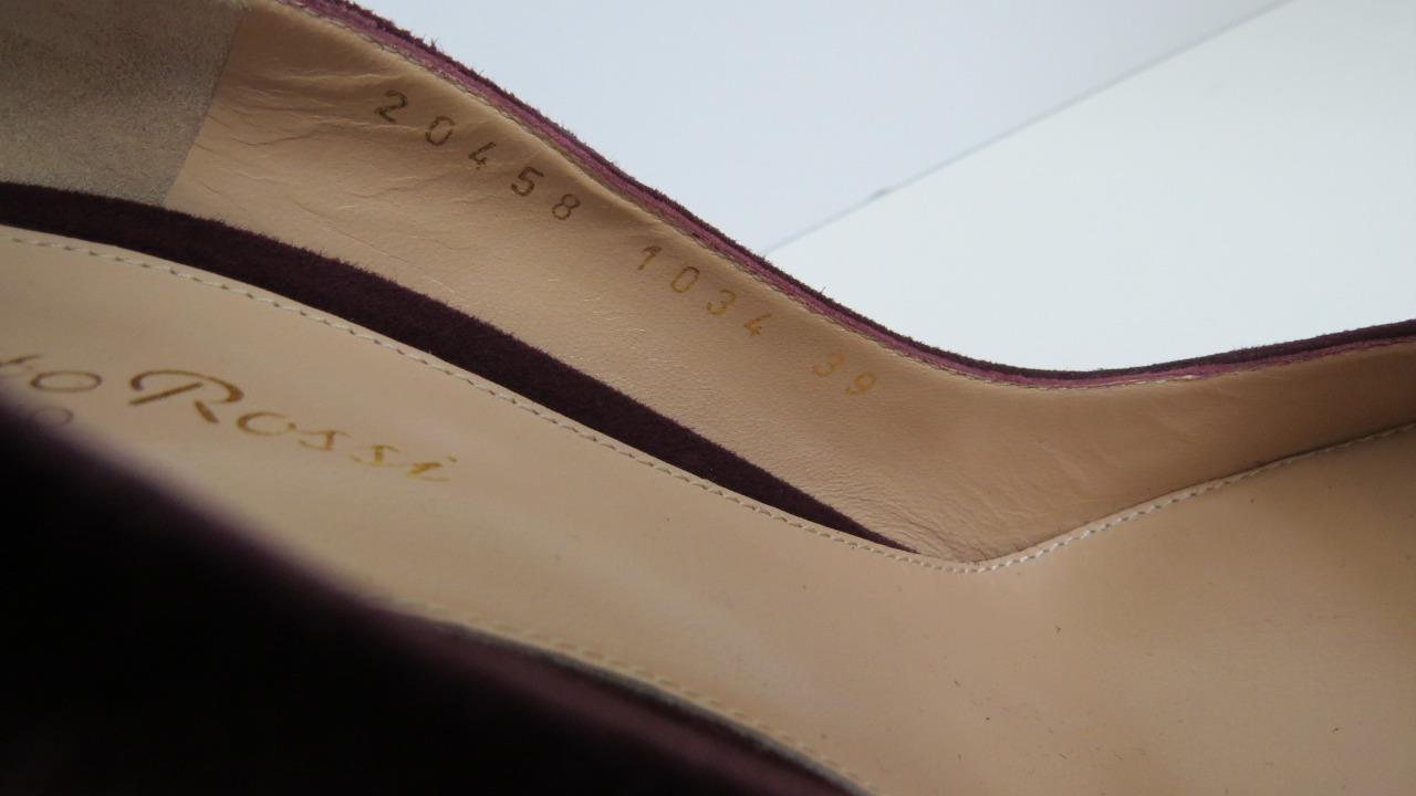 NWOB Gianvito Gianvito Gianvito Rossi Burgundy Suede Round Toe Heels shoes Sz. 39 6ea921