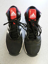 Adidas black, white and red leather basketball shoes, Men's 13 (eur 48)