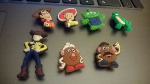 Girls or boys Toy story croc badges Jibbitzs Woody Jessie Mr /& Mrs Potato head