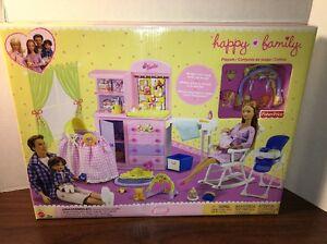 Image Is Loading 2002 Barbie Rare Hy Family Baby Nursery Playset